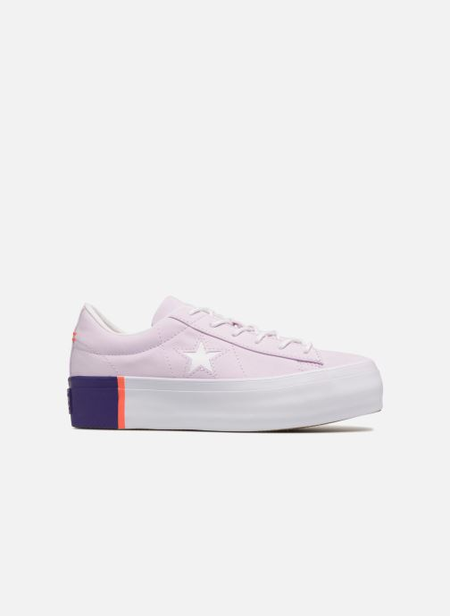 04d9ddf03af596 Trainers Converse One Star Platform Tri-Block Midsole Ox Purple back view