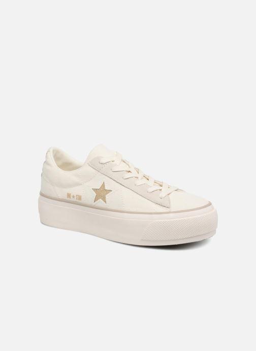 7527a726ce403 Converse One Star Platform Ox (White) - Trainers chez Sarenza (324715)