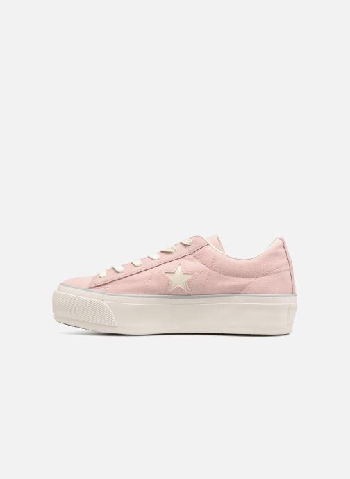 Sneakers Converse One Star Platform Ox Roze voorkant