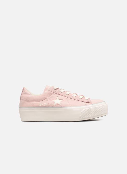Sneakers Converse One Star Platform Ox Roze achterkant
