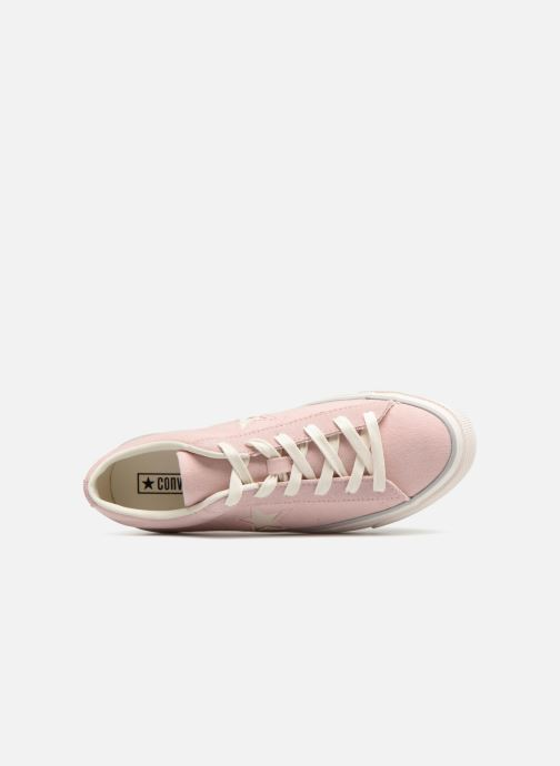 Trainers Converse One Star Platform Ox Pink view from the left