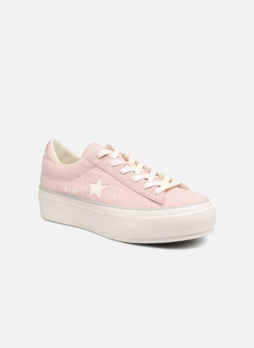Sneakers Converse One Star Platform Ox Roze detail