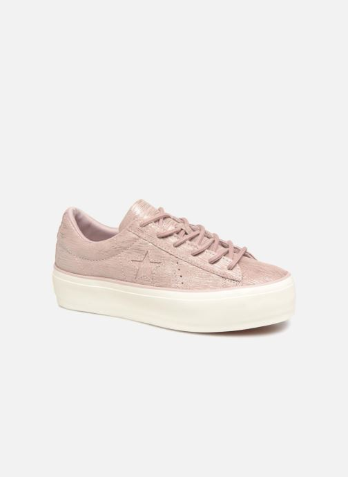 Baskets Converse One Star Platform Ox Violet vue détail/paire