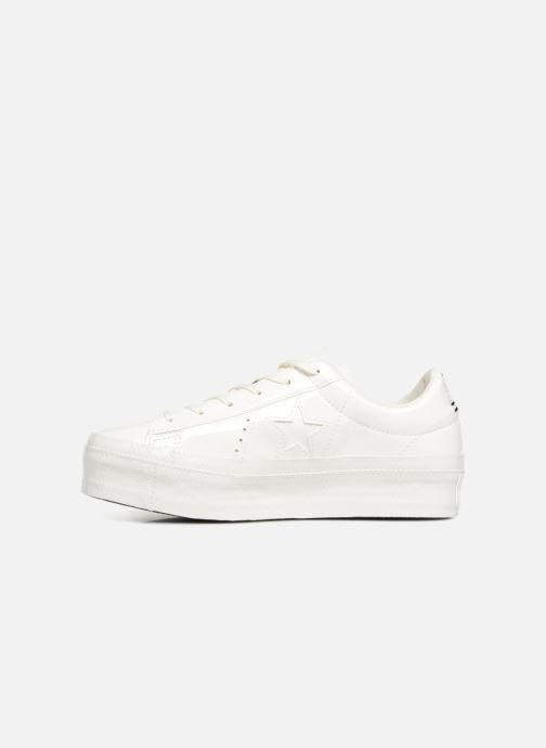 Trainers Converse One Star Platform Ox White front view