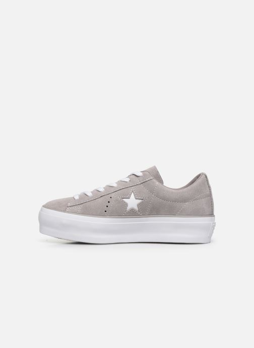 Sneakers Converse One Star Platform Ox Grigio immagine frontale