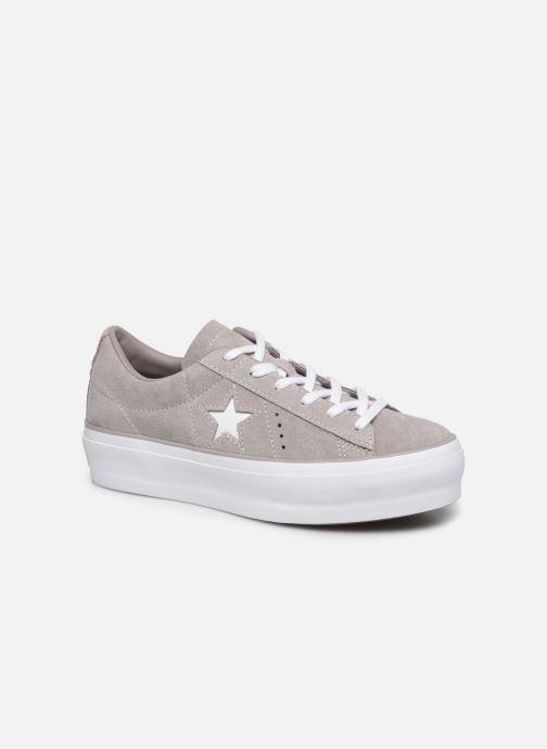 Sneakers Converse One Star Platform Ox Grigio vedi dettaglio/paio