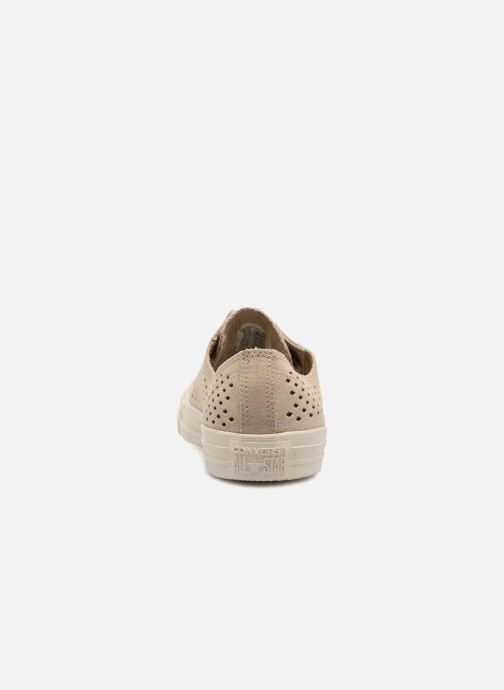 Trainers Converse Chuck Taylor All Star Perf Suede Ox Brown view from the right