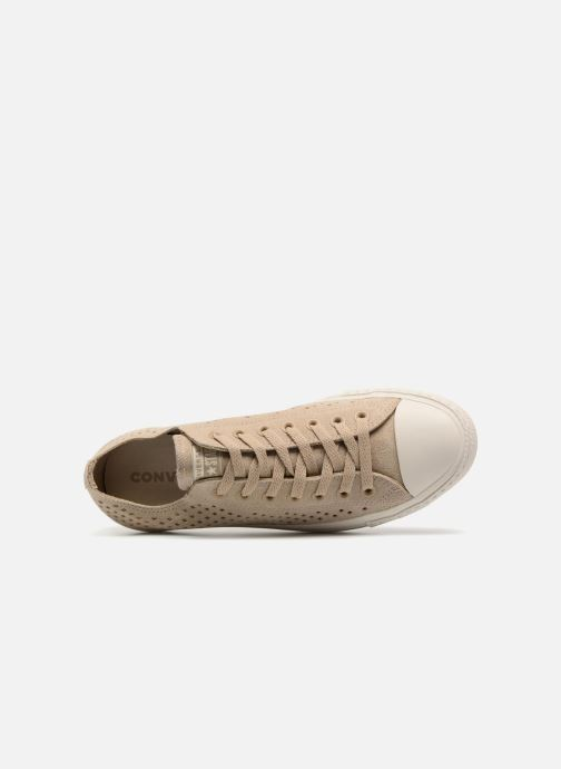 Trainers Converse Chuck Taylor All Star Perf Suede Ox Brown view from the left