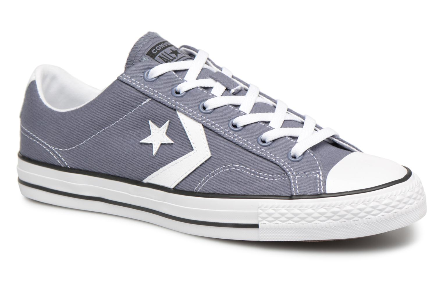Sneakers Converse Star Player Summer Twill Ox Grijs detail