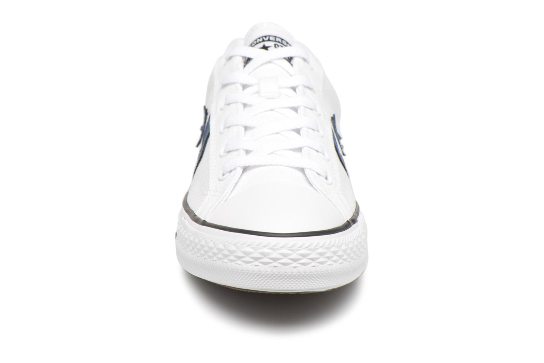 Sneaker Converse Star Player Summer Twill Ox weiß schuhe getragen