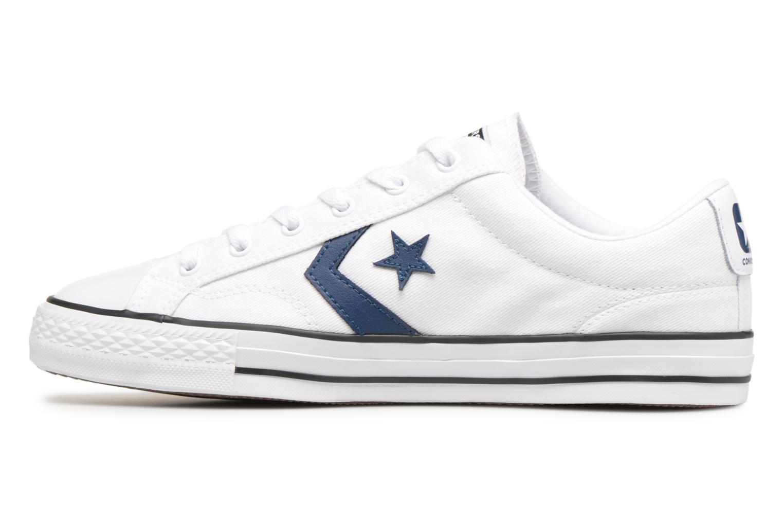 Sneaker Converse Star Player Summer Twill Ox weiß ansicht von vorne