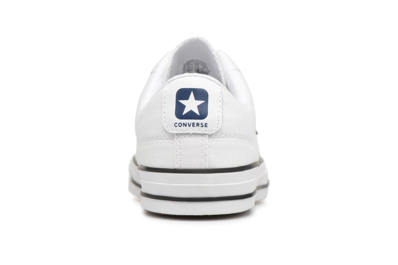 Sneaker Converse Star Player Summer Twill Ox weiß ansicht von rechts