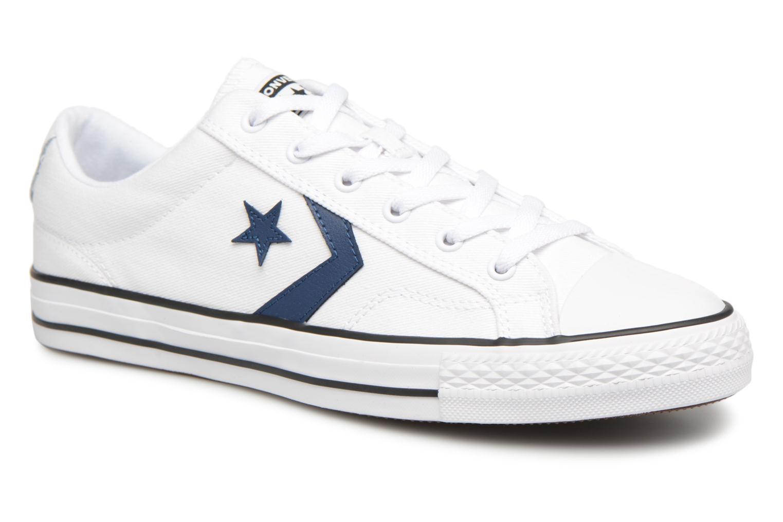 Sneaker Converse Star Player Summer Twill Ox weiß detaillierte ansicht/modell
