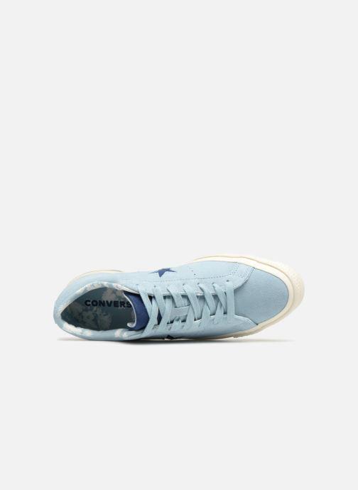 Baskets Converse One Star Tropical Feet Ox Bleu vue gauche