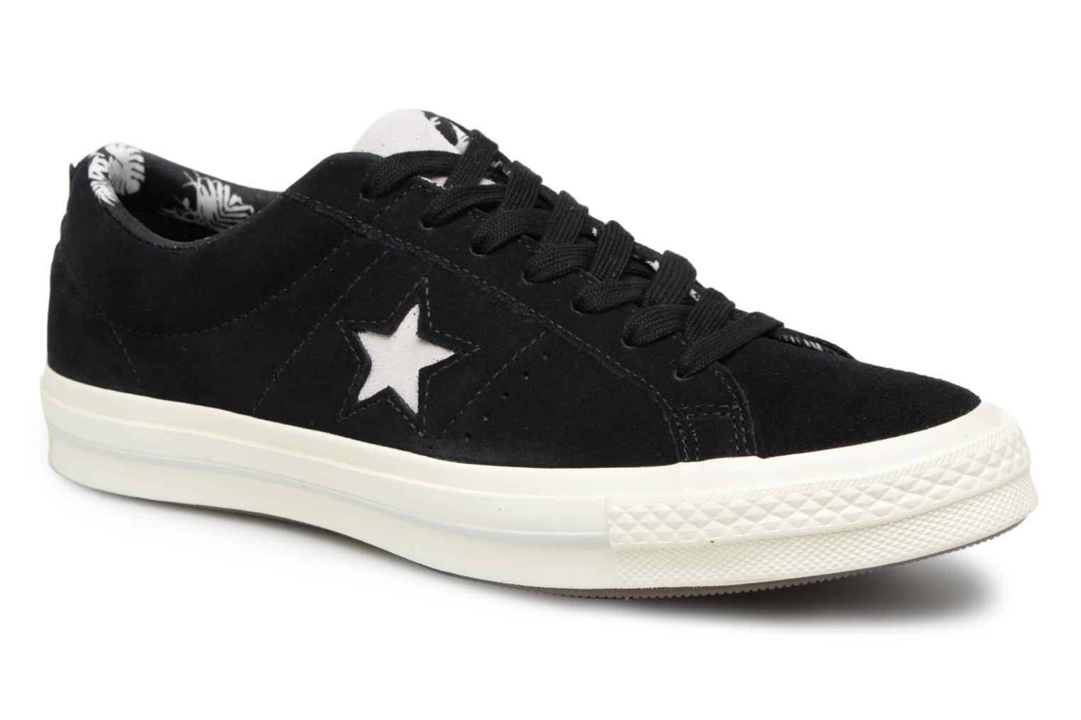 a54219b69 ... norway trainers converse one star tropical feet ox black detailed view  pair view 0a13a efdd5