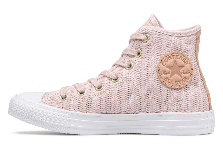 Sneakers Converse Chuck Taylor All Star Herringbone Mesh Hi Rosa immagine frontale