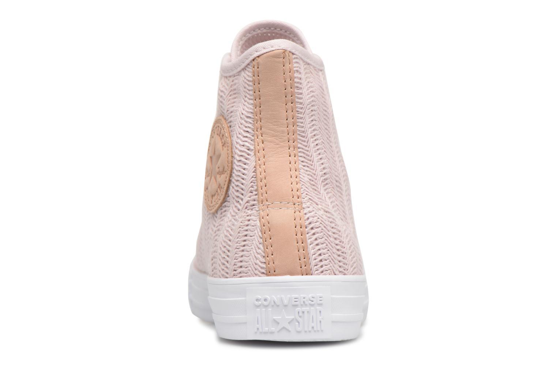Sneakers Converse Chuck Taylor All Star Herringbone Mesh Hi Rosa immagine destra