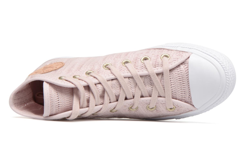 Sneakers Converse Chuck Taylor All Star Herringbone Mesh Hi Rosa immagine sinistra