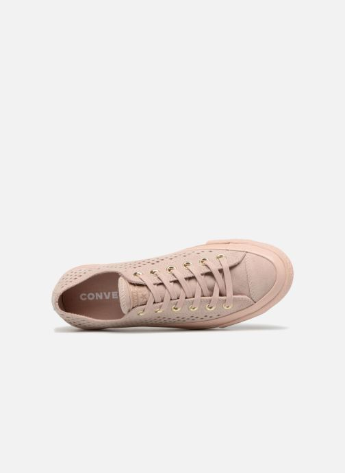 efdb3ed38892 Trainers Converse Chuck Taylor All Star Lift Ripple Mono Perf Suede Ox Pink  view from the