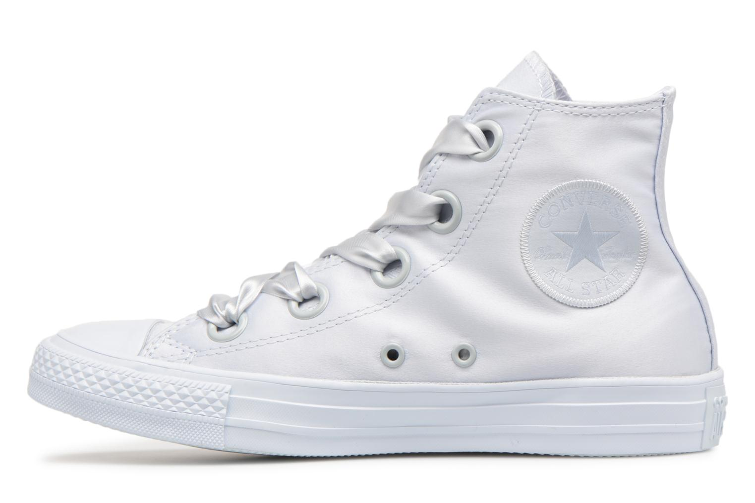 Sneakers Converse Chuck Taylor All Star Big Eyelets Satin Hi Bianco immagine frontale