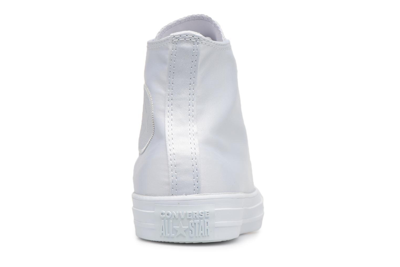 Sneakers Converse Chuck Taylor All Star Big Eyelets Satin Hi Bianco immagine destra