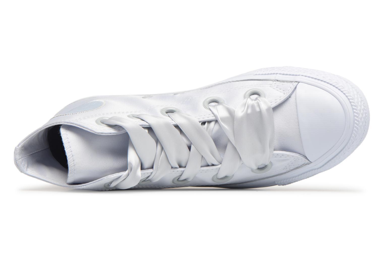 Sneakers Converse Chuck Taylor All Star Big Eyelets Satin Hi Bianco immagine sinistra