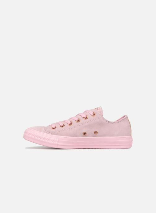 Baskets Converse Chuck Taylor All Star Tonal P. Suede Ox Rose vue face
