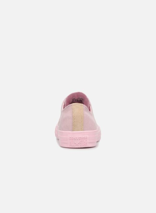 Trainers Converse Chuck Taylor All Star Tonal P. Suede Ox Pink view from the right