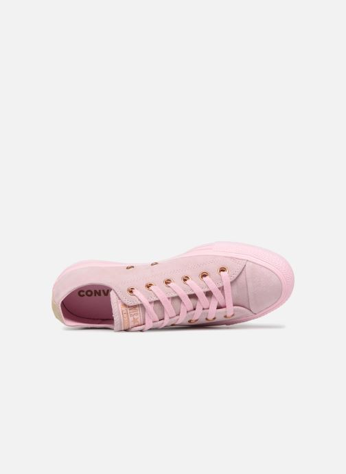Trainers Converse Chuck Taylor All Star Tonal P. Suede Ox Pink view from the left