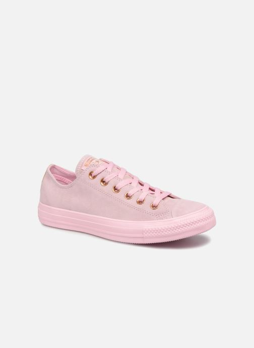 2186e3bea40 Trainers Converse Chuck Taylor All Star Tonal P. Suede Ox Pink detailed  view  Pair