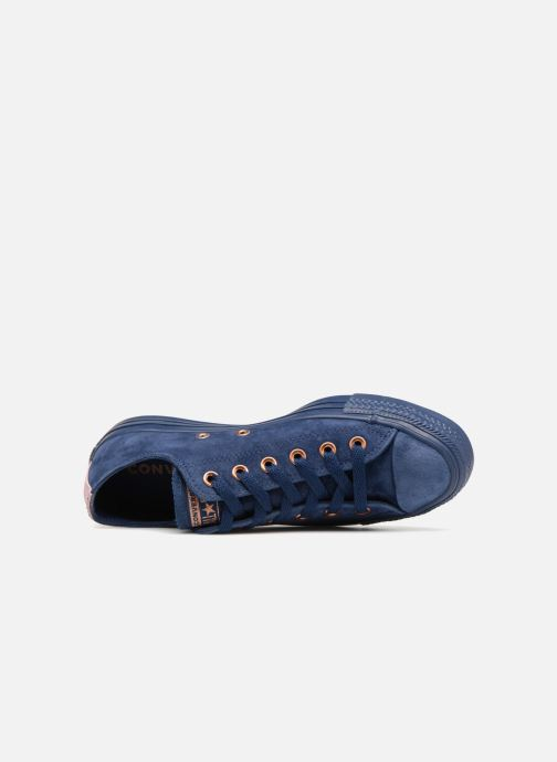 Trainers Converse Chuck Taylor All Star Tonal P. Suede Ox Blue view from the left