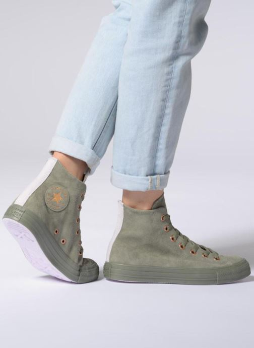 Trainers Converse Chuck Taylor All Star Tonal P. Suede Hi Green view from underneath / model view
