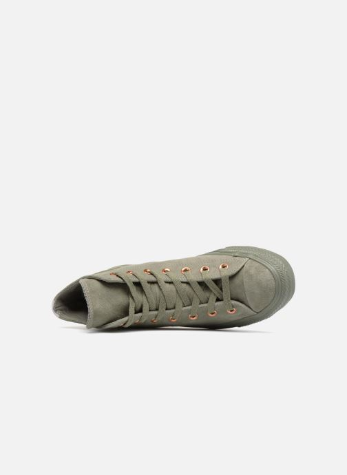 Trainers Converse Chuck Taylor All Star Tonal P. Suede Hi Green view from the left