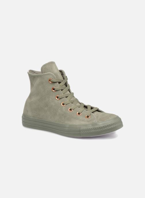 f2bd6885fba Trainers Converse Chuck Taylor All Star Tonal P. Suede Hi Green detailed  view  Pair
