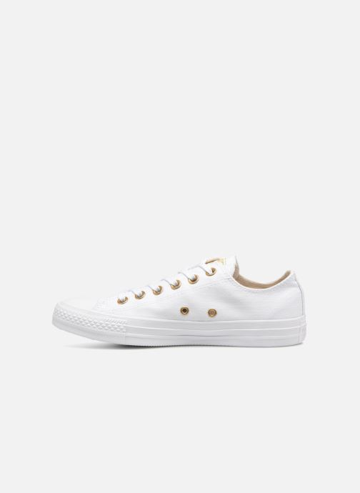 Baskets Converse Chuck Taylor All Star Washed Linen Ox Blanc vue face
