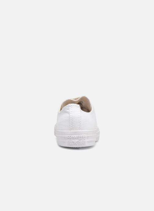 Baskets Converse Chuck Taylor All Star Washed Linen Ox Blanc vue droite