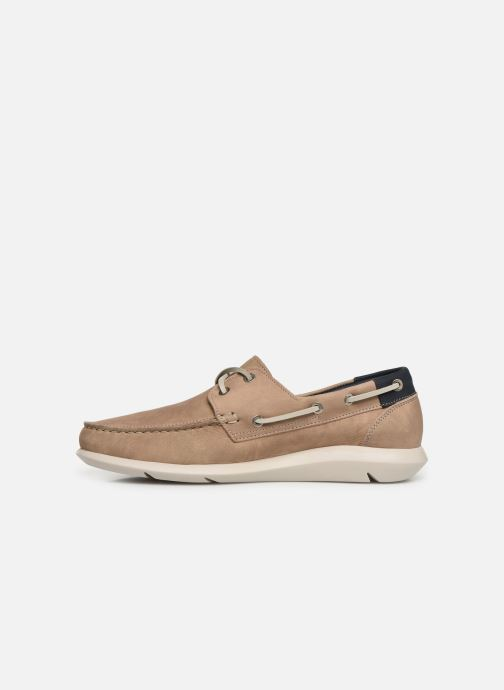 Lace-up shoes Callaghan WAVELINE Beige front view