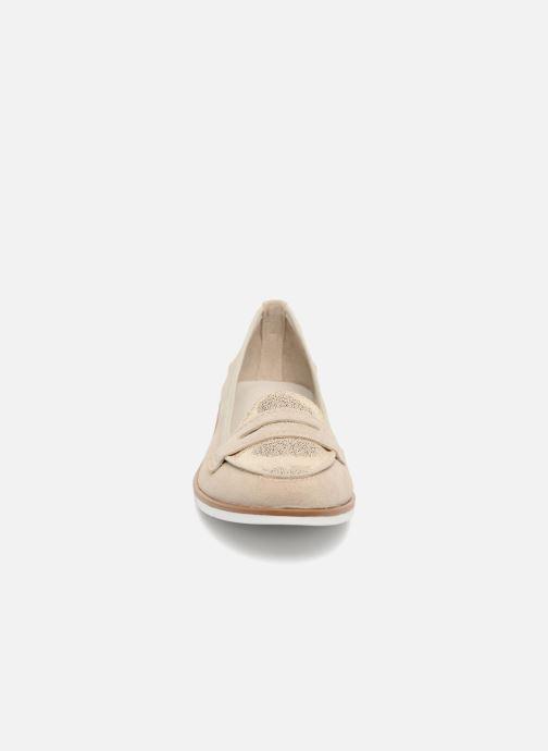 Mocassins Georgia Rose Luma Beige vue portées chaussures