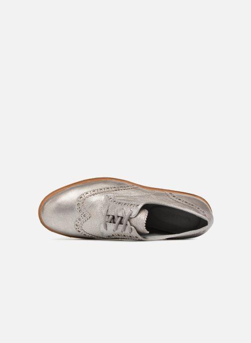 Zapatos con cordones Timberland Ellis Street Oxford Plateado vista lateral izquierda