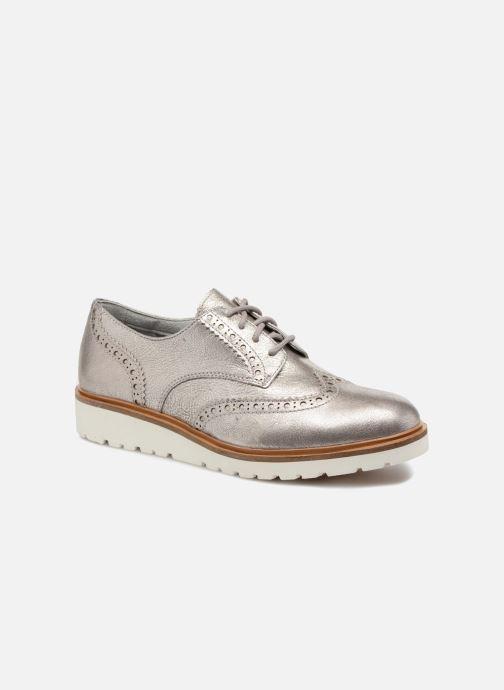 19fc49bdb40 Zapatos con cordones Timberland Ellis Street Oxford Plateado vista de  detalle / par