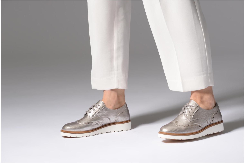 Chaussures à lacets Timberland Ellis Street Oxford Argent vue bas / vue portée sac