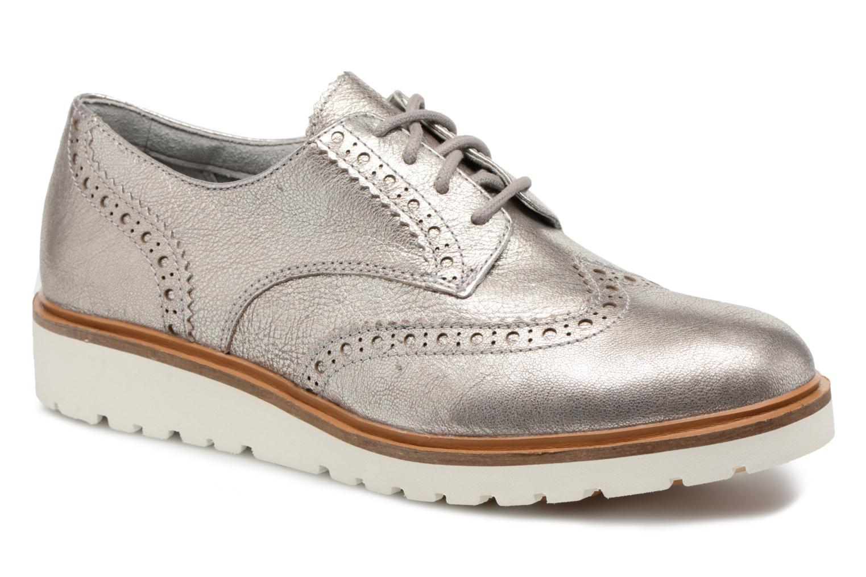 Chaussures à lacets Timberland Ellis Street Oxford Argent vue détail/paire