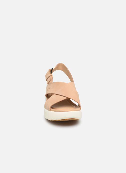 Sandales et nu-pieds Timberland Los Angeles Wind Slingback Beige vue portées chaussures