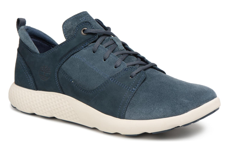 Baskets Timberland FlyRoam Leather Oxford Bleu vue détail/paire