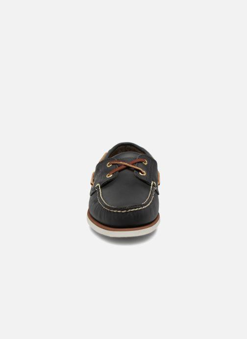 Chaussures à lacets Timberland MEN'S 2 EYE BOAT SHOE Bleu vue portées chaussures