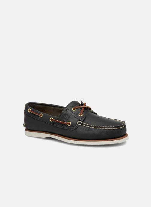 Snøresko Timberland MEN'S 2 EYE BOAT SHOE Blå detaljeret billede af skoene