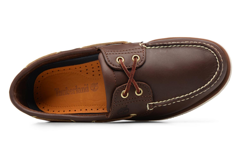 Chaussures à lacets Timberland MEN'S 2 EYE BOAT SHOE Marron vue gauche