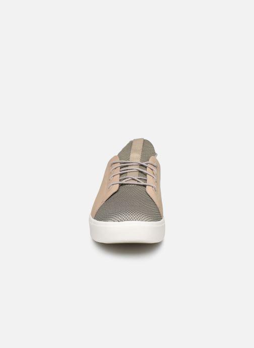 Sneakers Timberland Amherst Lthr LTT Sneaker Beige modello indossato