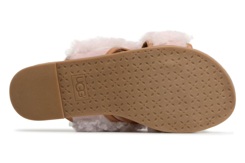 Sandales et nu-pieds UGG Stacee Rose vue haut