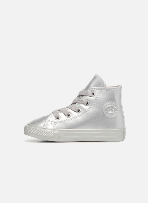 Trainers Converse CTAS HI Silver front view